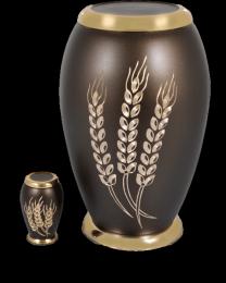 Autumn Harvest Brass Cremation Urn