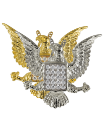 Jeweled Eagle Urn Pendant