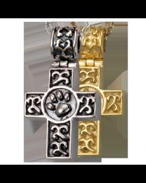 Paw Print Cross