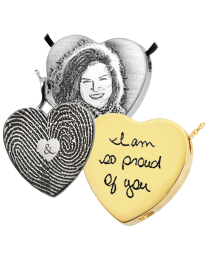 Personalized Peaceful Heart Pendant