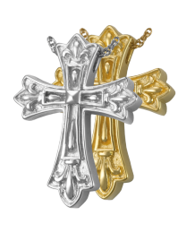 Cremation Jewelry: Ornate Cross