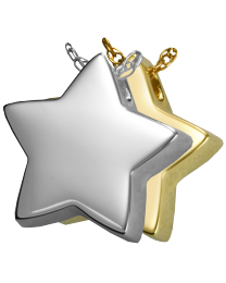Slide Star Cremation Pendant