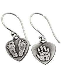 mix and match hand print + foot print earrings