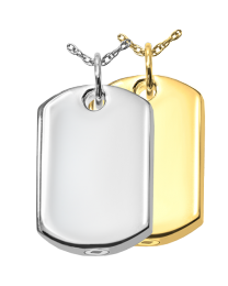 Dog Tag Cremation Pendant