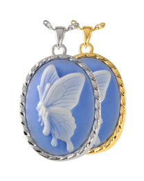 Sky Blue Butterfly Cameo