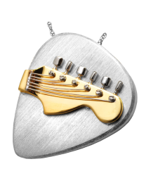 Two-tone Guitar Pick Urn Jewelry
