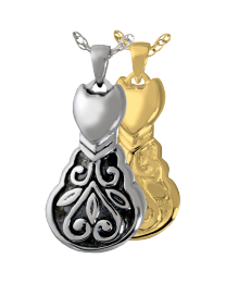 Scroll Kitty Cremation Necklace