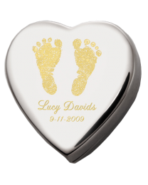 Custom Baby Feet Memorial Heart Baby Urn