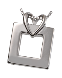 Premium Stainless Steel Wrapped In Love Cremation Pendant