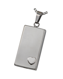 Cremation Jewelry: Premium Stainless Steel Heart of Foundation