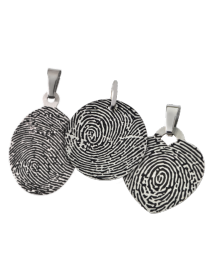 Thin Stainless Steel Fingerprint Pendant