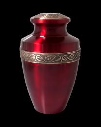 Scarlet Brass Cremation Urn