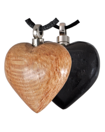 Wood Heart Cremation Pendant