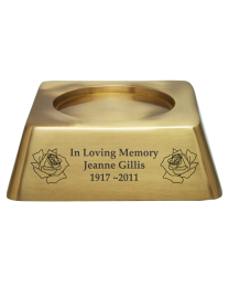 Engravable Square Base For Urn