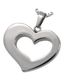 Premium Stainless Steel Affectionate Heart
