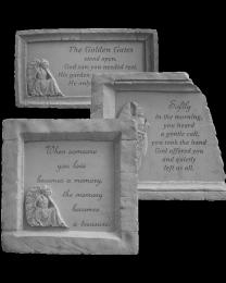 Framed Angelic Garden Memorial Stone