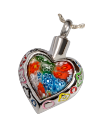 Stainless Steel Art Glass Heart II
