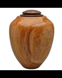 Craftsman Artisan Urn in Cherry Wood