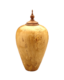 Eternal Heartwood Spalted Maple Wood Urn