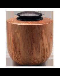 Ambrosia Maple Wood Urn with Ebonized Oak Lid