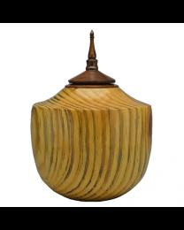 box elder wooden urn