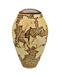 Silver Maple and Walnut Lid Eternal Heartwood Petite Urn