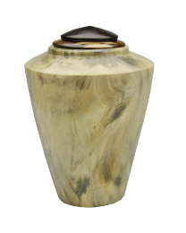 Southern Magnolia Keepsake Urn with Poplar Wood Lid