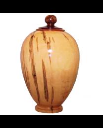 Noble Ambrosia Maple Hand-turned Wooden Urn