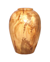 At Peace Ambrosia Maple Hand-turned Wooden Urn