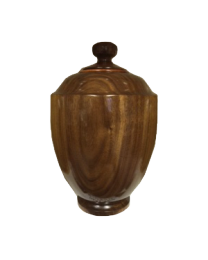 Walnut Hand-turned Wooden Urn