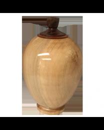 Splendid Maple Wood Finial Urn
