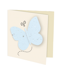 Plantable Butterfly in Flight Folded Card- Set of 100