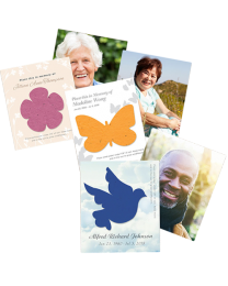 100 Plantable Photo Memorial Seed Card with Envelopes
