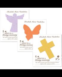 100 Plantable Memorial Cards + Envelopes