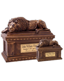 Bronze Lion Cremation Urn
