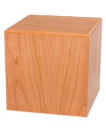 Wood Cube Urn