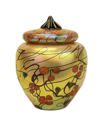 Poppy Glass Urn