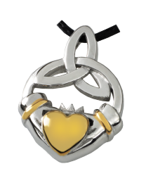 Premium Stainless Steel Claddagh Trinity Knot