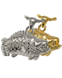 Cremation Jewelry: Large Mouth Bass