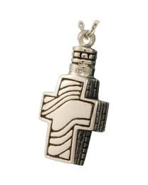 Contemporary Cross Urn Pendant