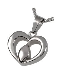 Cremation Jewelry Premium Stainless Steel Tear of Love- Center of the Heart