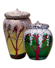 short cherry blossom urn