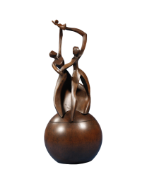 Dance of Life Child Cast Resin Cultured Wood Finish Urn