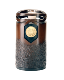 Cast Resin Cultured Wood Finish Urn