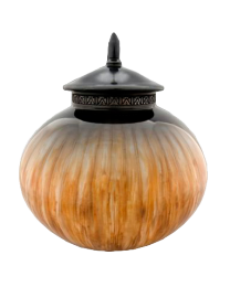 Spherical Hazelnut Pottery Urn
