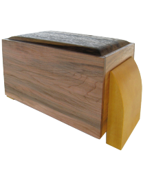 Hard Maple, Black Limba, Yellow Heart Artisan Wood Urn