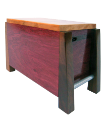 Modern Purple Heart and Maple Artisan Wood Urn