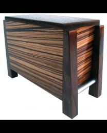 Modern Zebra Wood Artisan Wood Urn