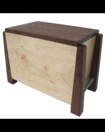 Modern Maple and Walnut Artisan Wood Urn