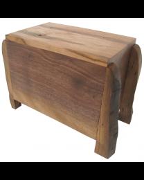 Modern Rustic Artisan Wood Urn